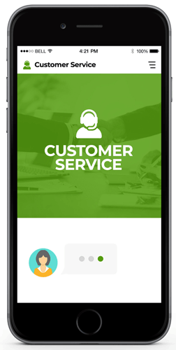Cusomter Service Chatbot provided by Constant Clients to give your website the online presence it needs